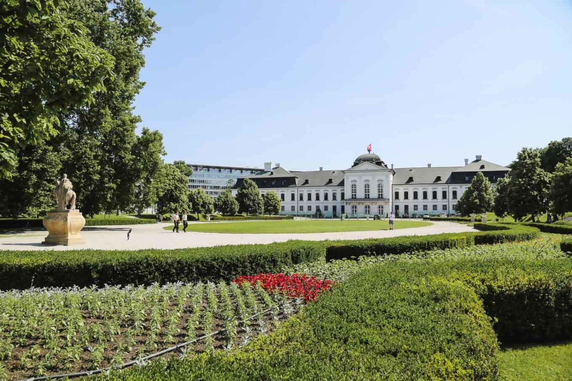 THE PRESIDENTIAL PALACE AND GARDEN in Bratislava