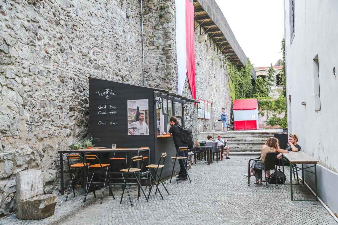 tea bar in Bratislava